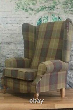 Sunggle Fireside Chair EXTRA WIDE & EXTRA TALL -Balmoral Pistashio Light Legs