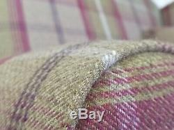 Sunggle Wing Back Cottage Fireside Chair EXTRA WIDE Balmoral Heather Tartan