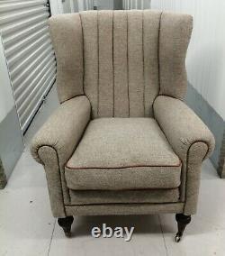 Tetrad Harris Tweed'dunmore' Wing Back Chair, Fireside, Wingback