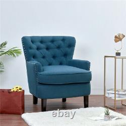 Upscale Accent Tub Chair High Wing Back Fireside Armchair Padded Sofa 150 Load