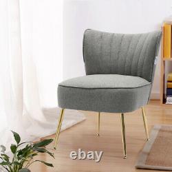 Velvet Upholstered Oyster Scallop Wing Back Chair Armchair Lounge Fireside Sofa