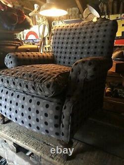 Victorian Armchair Fireside Wingback Tub Chair