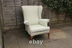 Vintage Parker Knoll Wing Back High Back Pk 720 Fire Side Arm Chair Seat Fabric