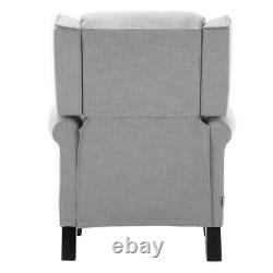 Wing Back Recliner Chair Fabric Fireside Occasional Armchair Cinemo Nursing Seat