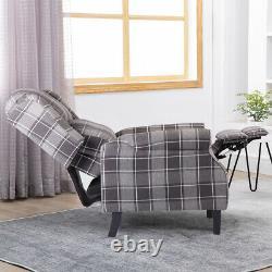 Wing Back Recliner Chair Fireside Fabric Reclining Armchair Sofa Lounge Cinema