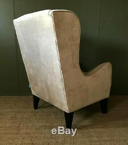 Wingback Armchair DFS'Capsule' Fireside Chair Neutral Chenille Fabric in VGC