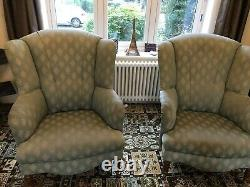 Wingback Boutique Fireside chairs Pair. Good Condition. Very Stylish+Comfortable